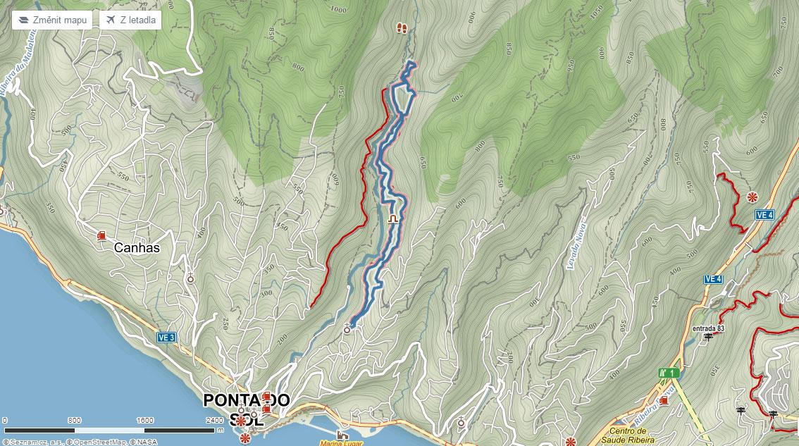 Trasa po levádách u Ponta do Sol na Madeiře