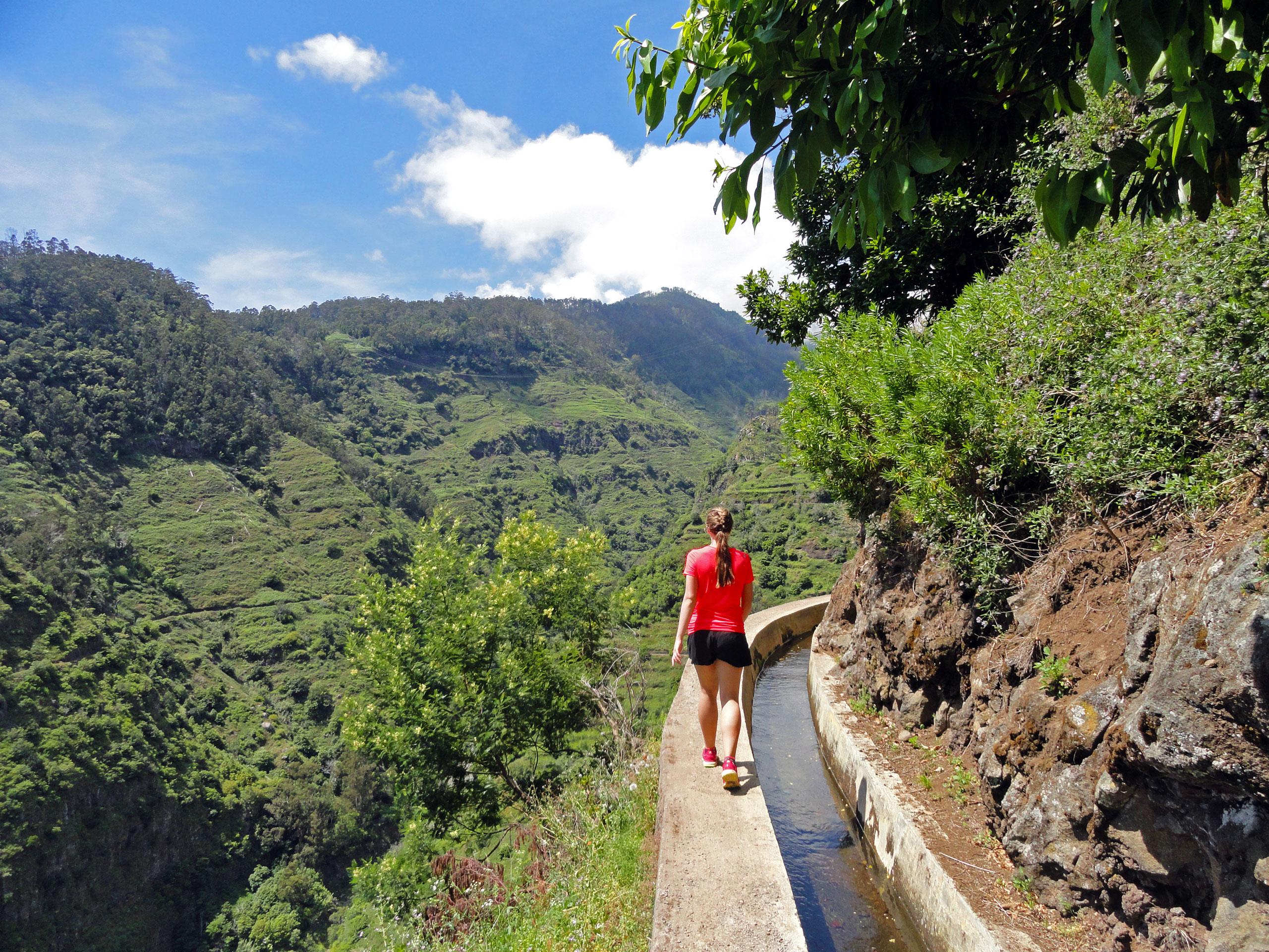 Ve výškách na levádách u Ponta do Sol