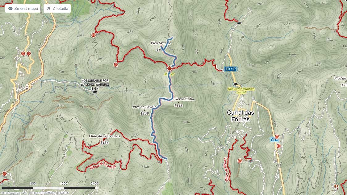 Trasa na Pico Grande