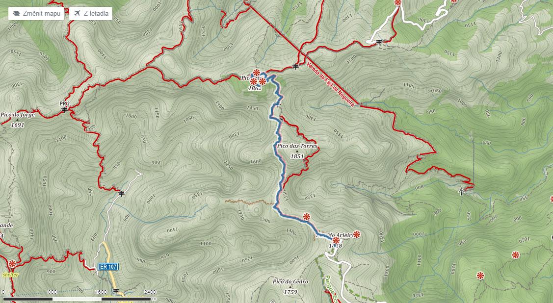 Cesta na Pico Ruivo na Madeiře