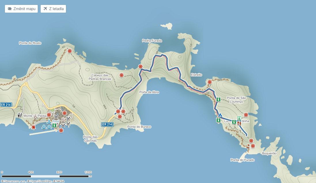 Trasa po na poloostrově São Lourenço