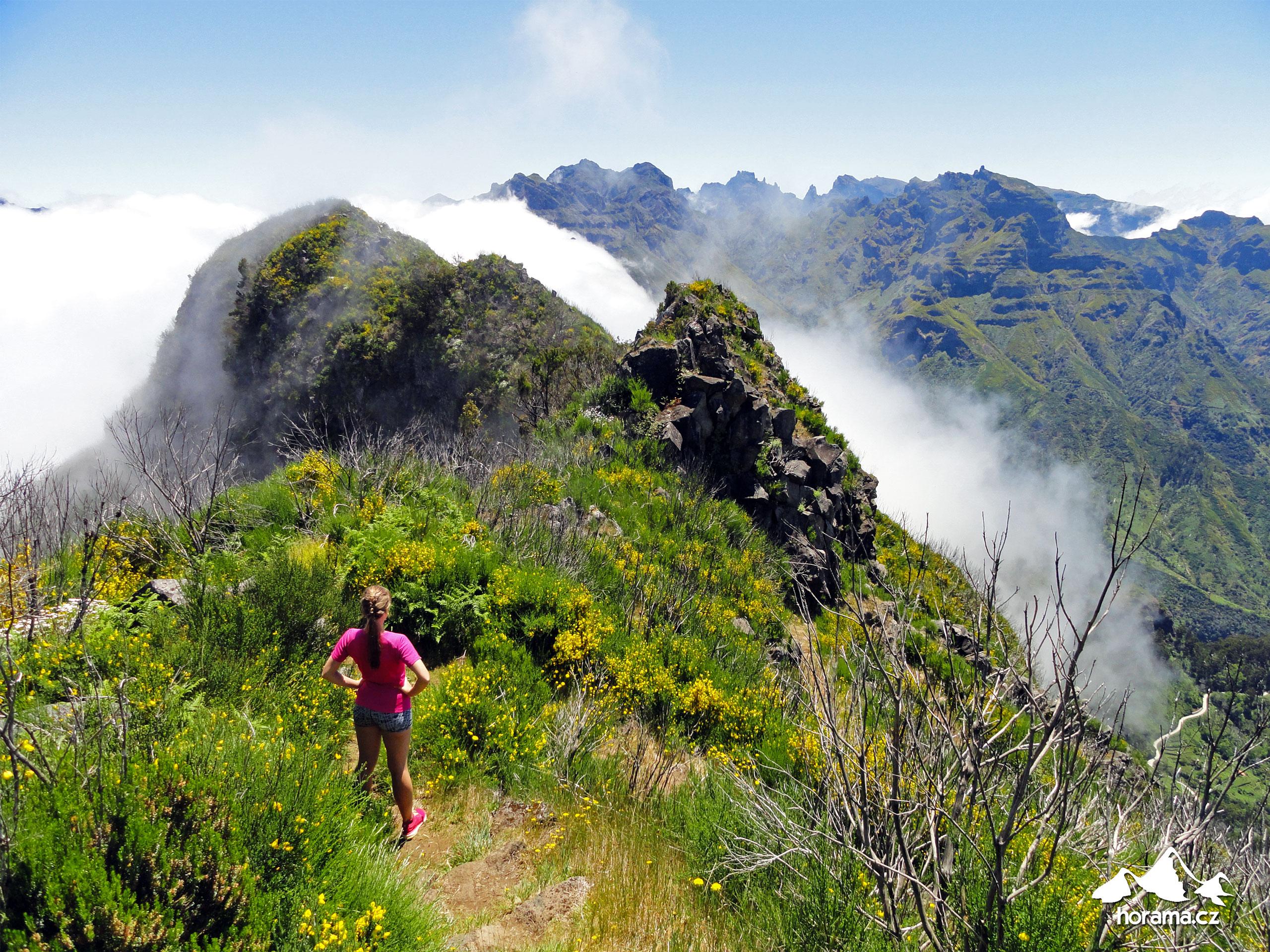 Madeira hory Pico Ruivo Pico Grande