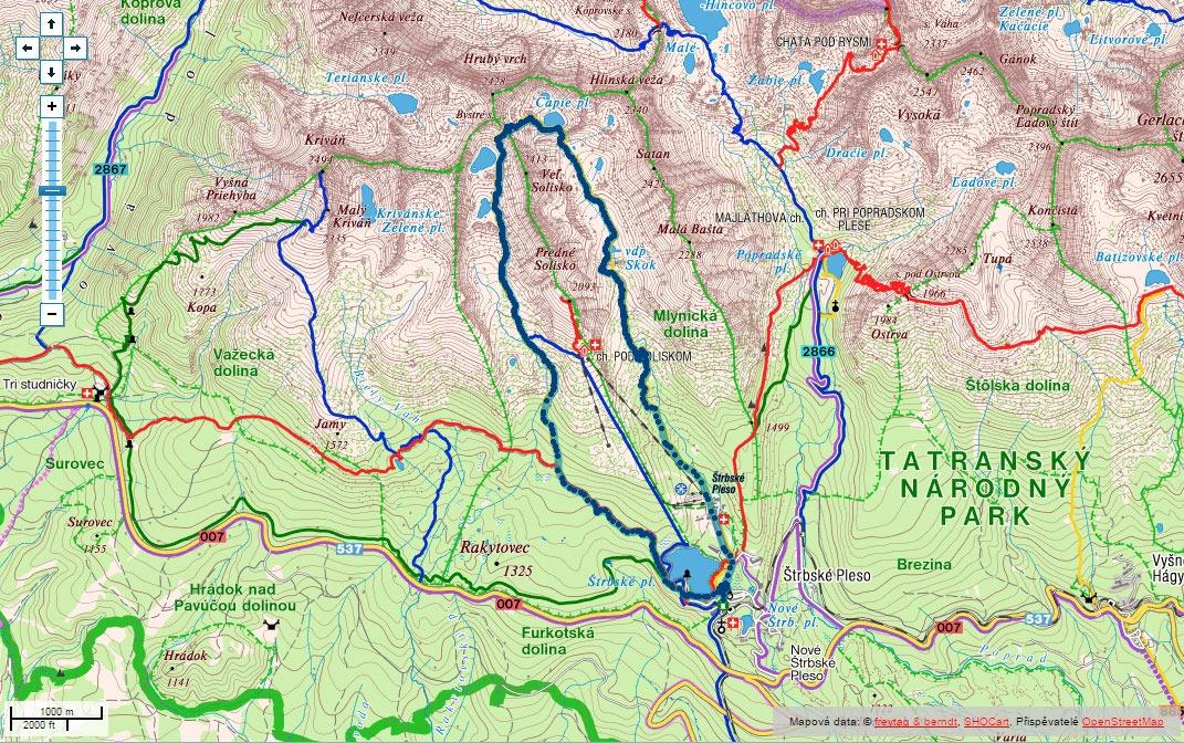 Trasa Mlýnickou a Furkotskou dolinou