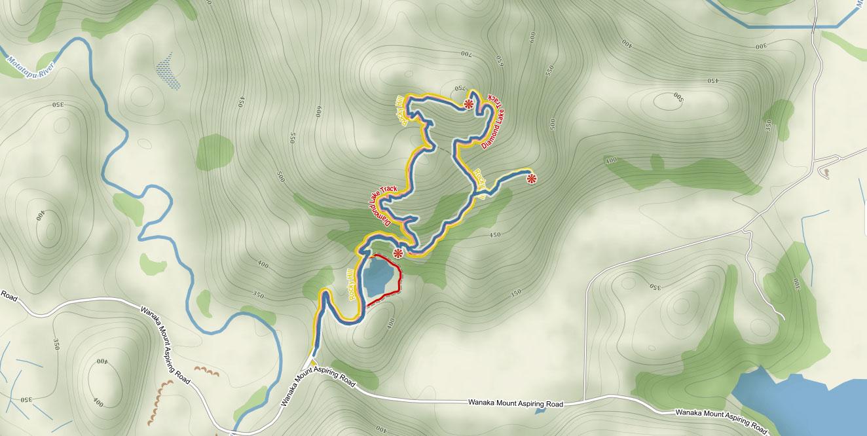 Trasa na Rocky Mountain ve Wanace na Novém Zélandu