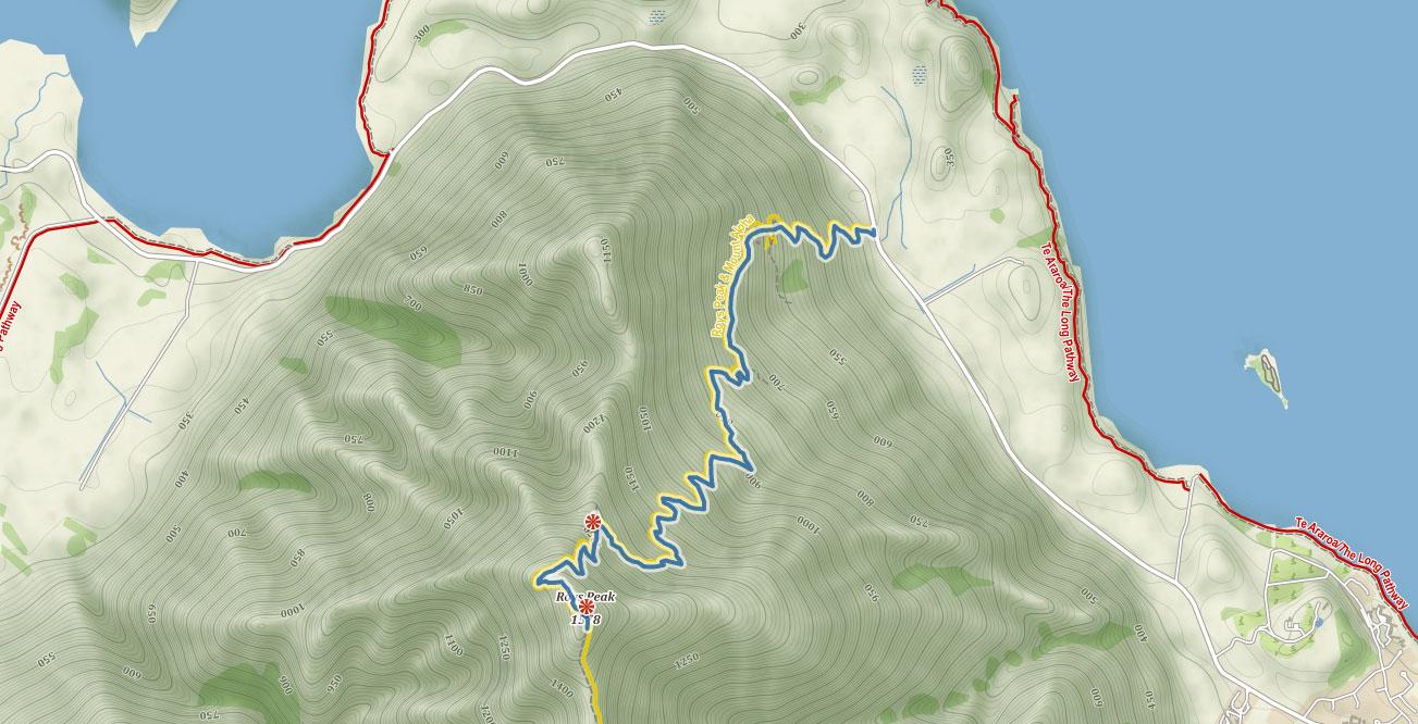 Trasa na Roys Peak ve Wanace na Novém Zélandu