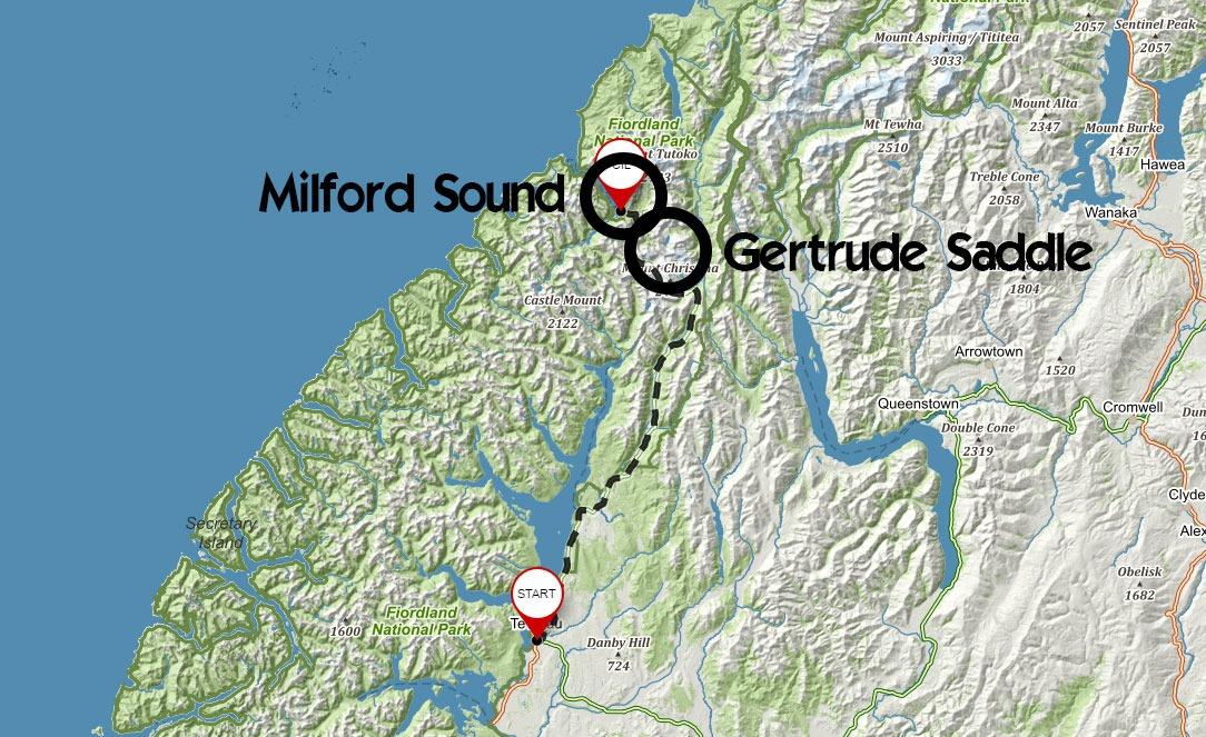 Trasa z Te Anau do Milford Sound se zastávkou v Gertrude Saddle