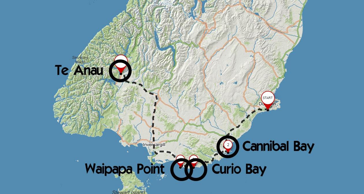 Trasa z Dunedinu do Te Anau s projížďkou přes Catlins