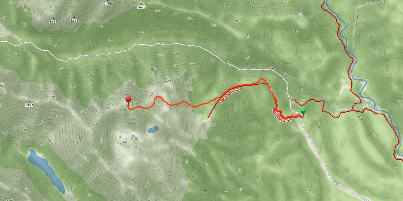 Trasa na Eldrig Peak ve Fiordland na Novém Zélandu