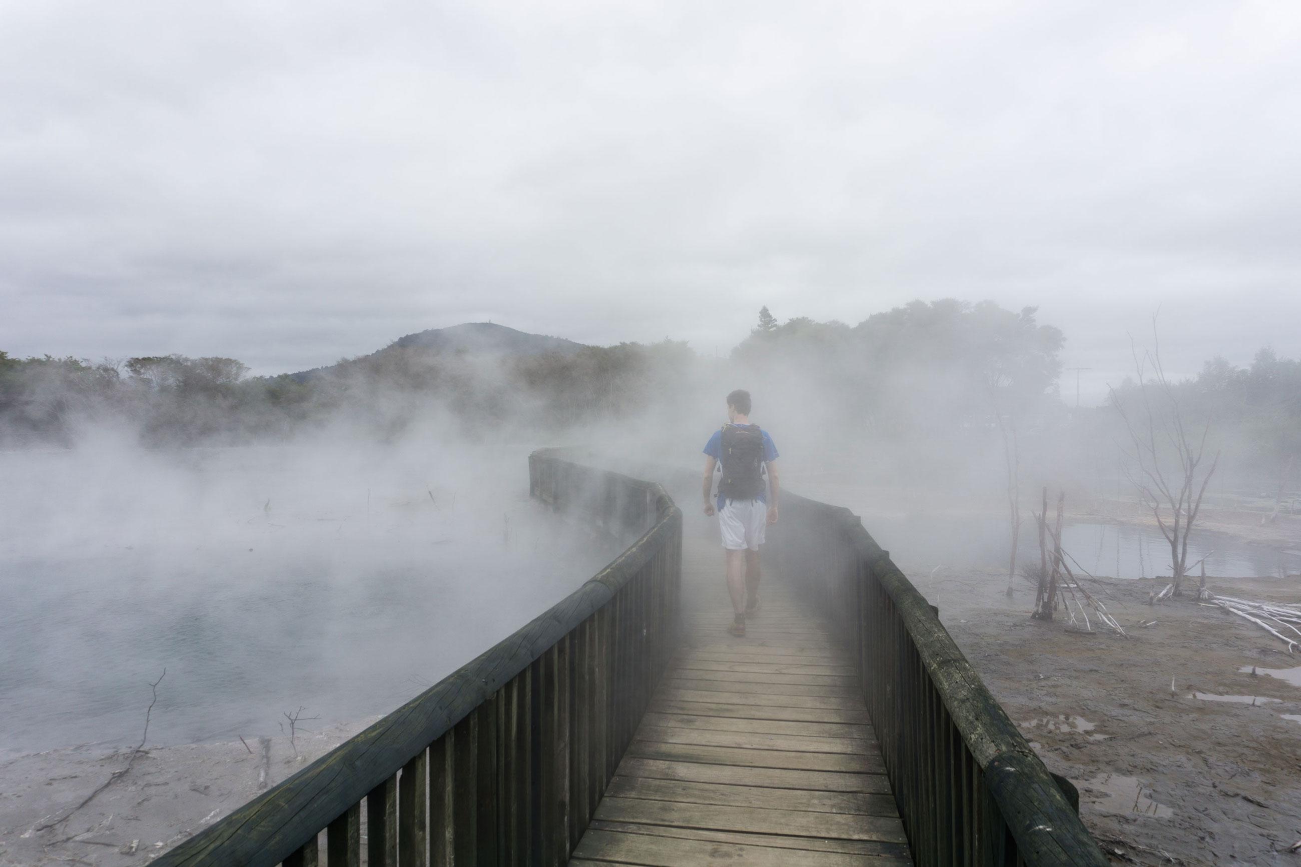 Rotorua aneb vodopády, jezera a smrad síry