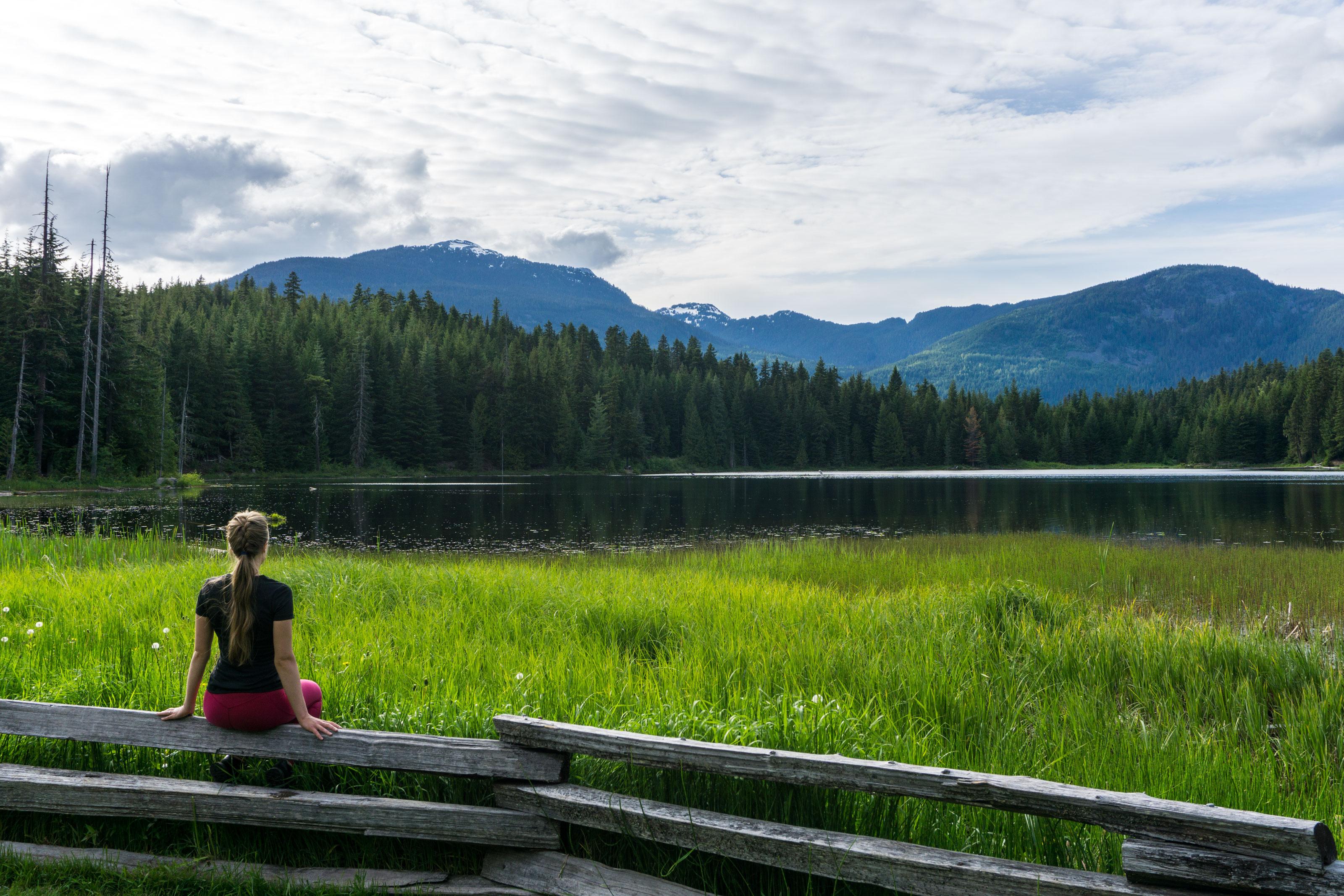 Pokus o Rainbow Lake a relax ve Whistleru