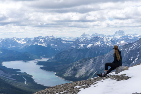 Mount Sparrowhawk aneb kanadské Rocky Mountains jako na dlani