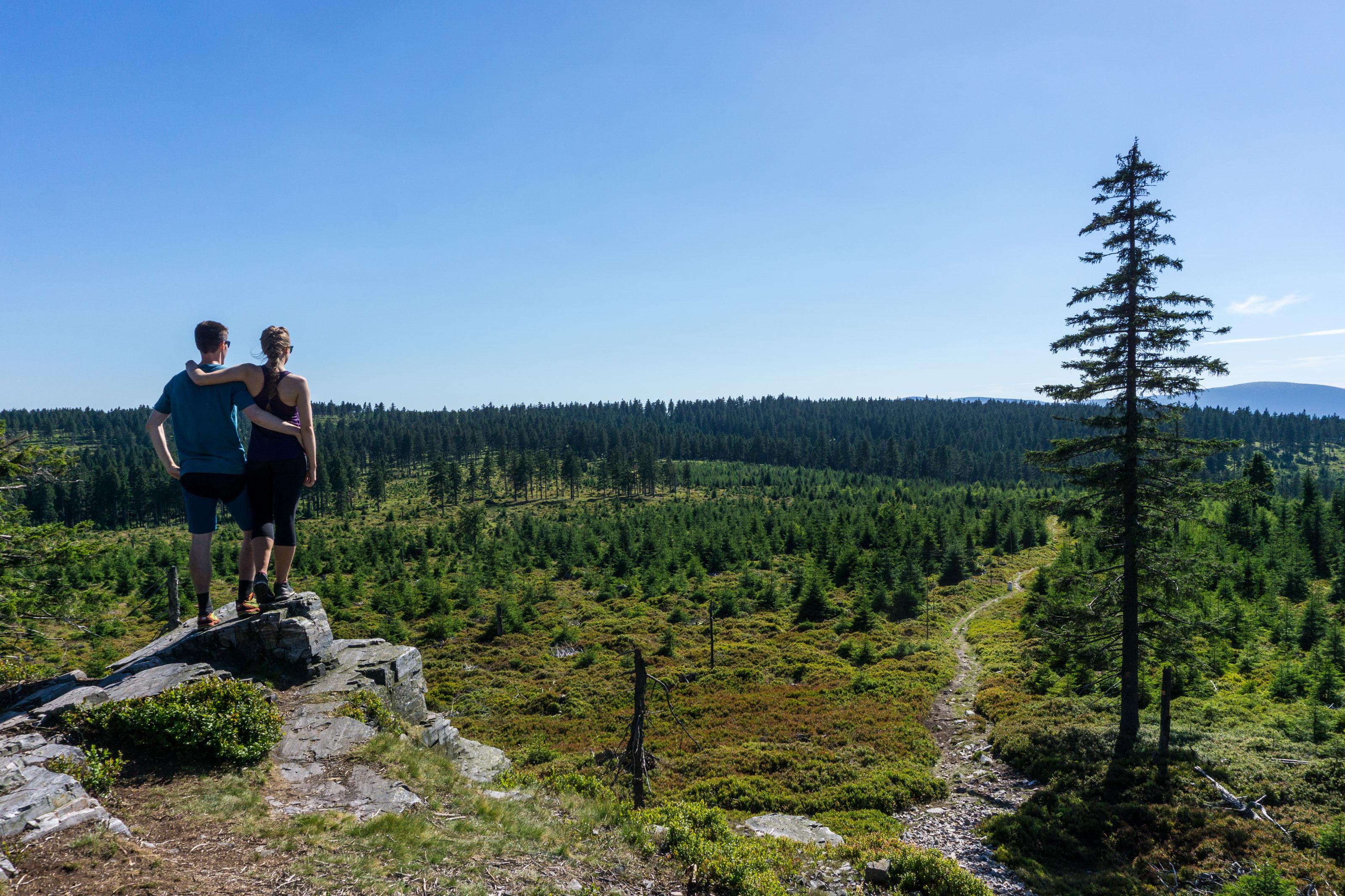 Po českopolské hranici na Polskou horu v Rychlebských horách