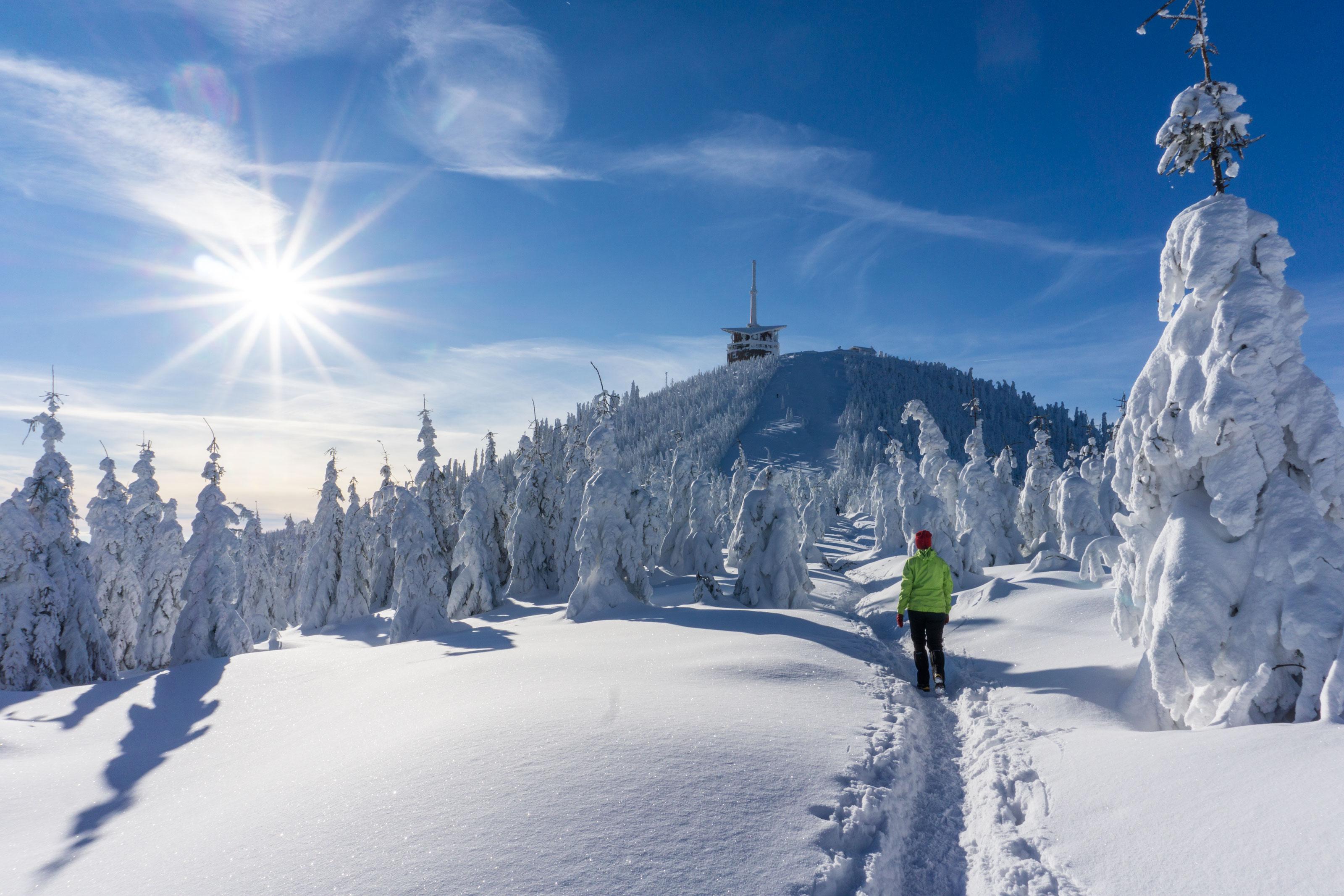 Sněhovým královstvím na Lysou horu, královnu Moravskoslezských Beskyd