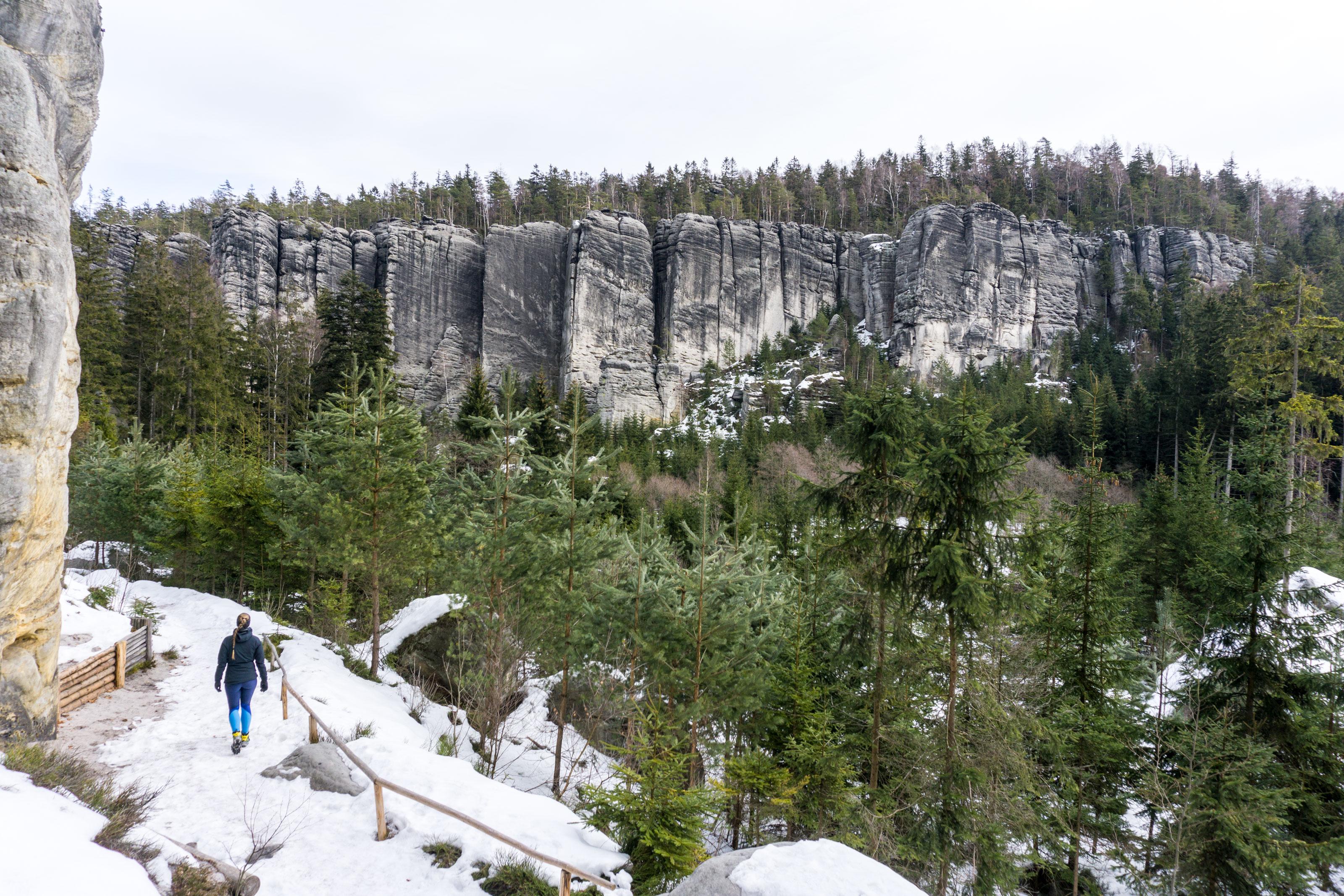 Adršpašské a Teplické skalní město pod sněhovou peřinou