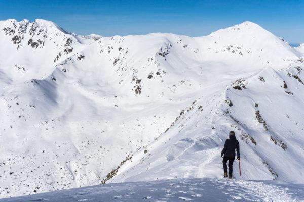 Zimní pohádka při výstupu na Baranec v Západních Tatrách