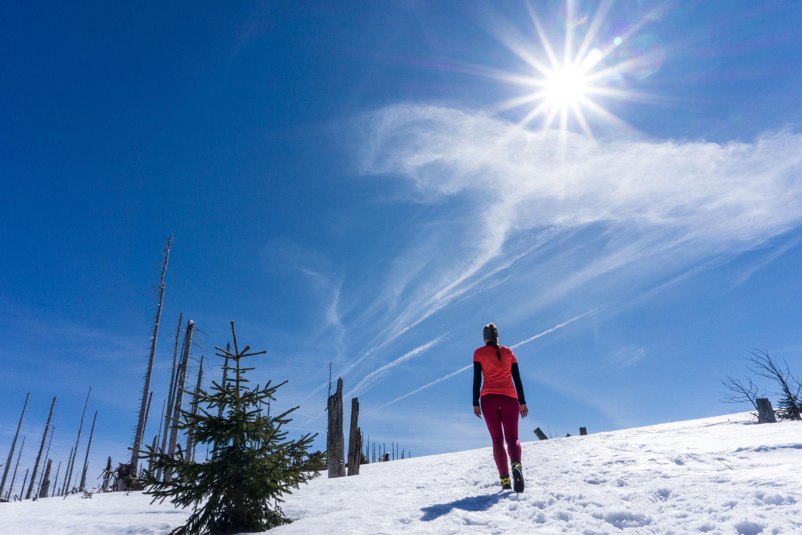 Jarní výlet na Plechý, nejvyšší horu české Šumavy