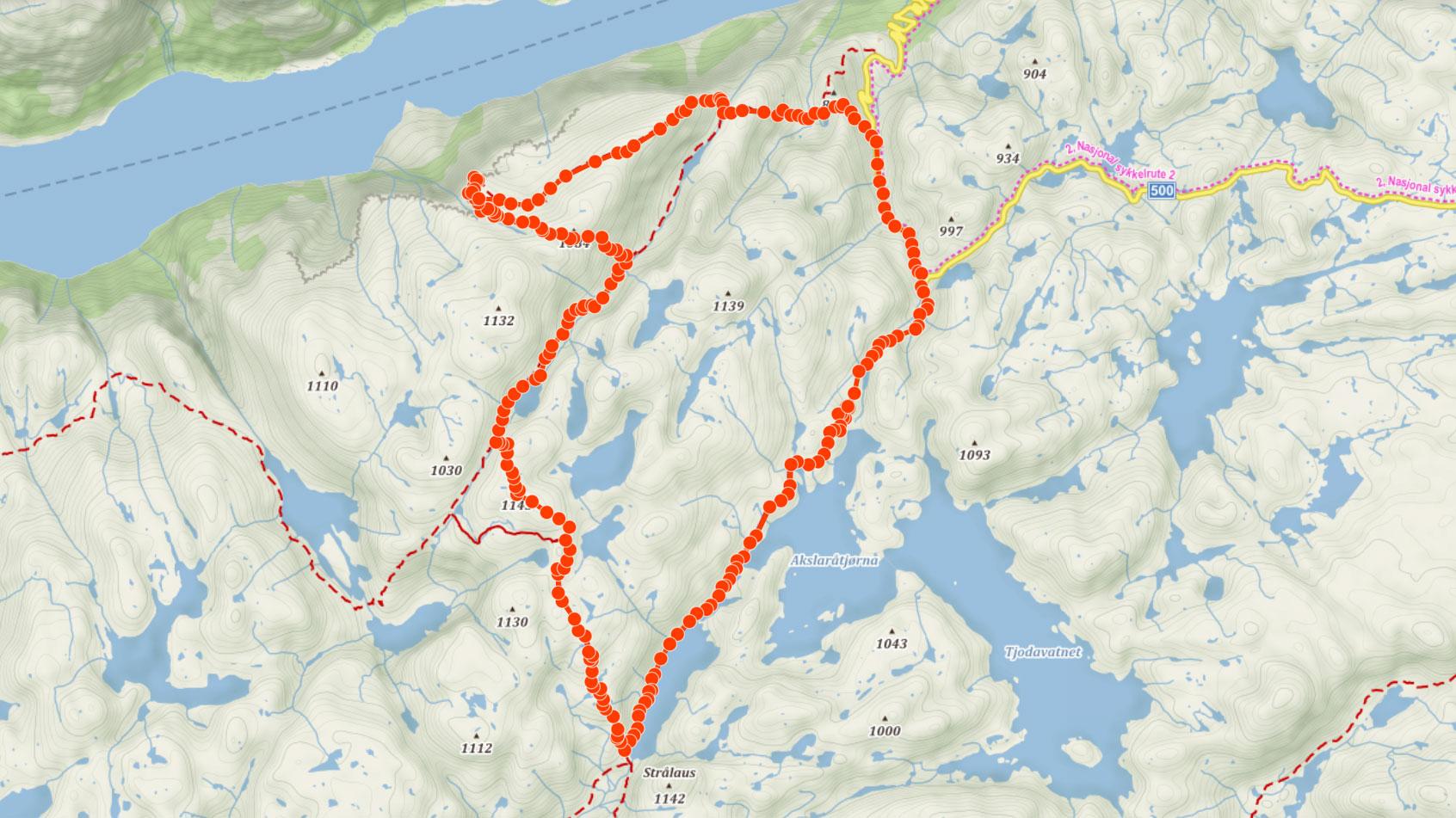Okružní trasa na Kjeragbolten, kámen zaklíněný tisíc metrů nad fjordem