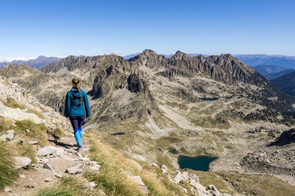 Mezi pyrenejskými jezery a krávami na Tuc de Ratera v kraji Val d'Aran