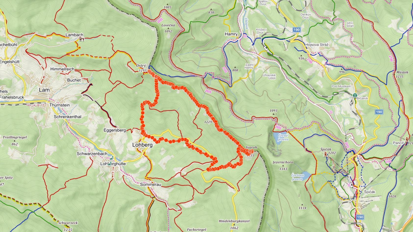Hřebenovka na Šumavě přes Ostrý, Velký Kokrháč a Svaroh