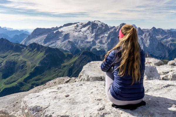Věže Dolomit a štíty Východních Alp z třítisícového Piz Boè
